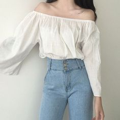 "378 Likes, 1 Comments - Hhotaru (@shophhotaru) on Instagram: ""NEW BASIC OFF THE SHOULDER BLOUSE ☁️"""