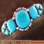 Turquoise Jewelry Genuine Sterling Silver Cuff Bracelet