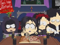 Is this the first interaction kenny (as mysterion) has with the goth kids? Anime Chibi, South Park Goth Kids, Butters South Park, South Park Memes, Trey Parker, Creek South Park, Adult Cartoons, Cool Animations, Aesthetic Anime