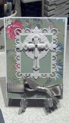 Sympathy card Homemade Greeting Cards, Homemade Cards, Communion, Spellbinders Cards, Christian Cards, Anna Griffin Cards, Get Well Cards, Sympathy Cards, Scrapbook Cards