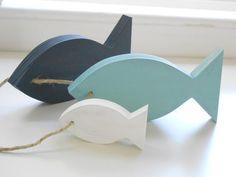 Modern Nautical Nursery Wooden fish decor for by TheSeasideKids