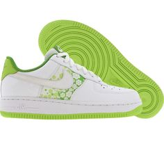 outlet store 06718 e381d Nike Womens Air Force 1 Low (white  white  citron  chlorophyll) 315115