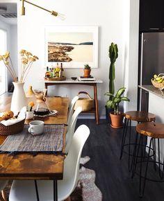 Boho modern dining room