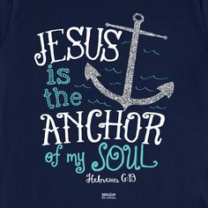 Kerusso Christian T-Shirt   Jesus is the Anchor of my Soul   Free U.S. Shipping