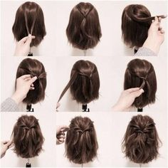 Yhdistä kaksi hiushuortuvaa. Sitten pujota toisia hiuksia niiden ympäri niin kauan, kunnes se näyttää hienolta.