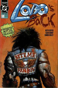 Lobo's Back #1 (May '92) painted cover by Simon Bisley. #comics #Lobo