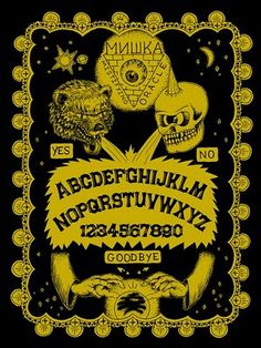 Ouija Tee Design by Sara Antoinette Martin Witch Board, Tee Design, Graphic Design, Horror Posters, Ouija, Deco, Macabre, Vintage Halloween, Occult