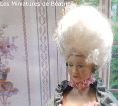 Les Miniatures de Béatrice Marie Antoinette, Porcelain, Dolls, Face, Miniature Dolls, Baby Dolls, Porcelain Ceramics, Puppet, Doll