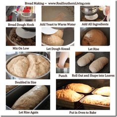 picture instructions making bread - Google Search