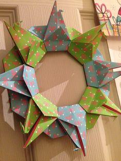 Origami crane circle.