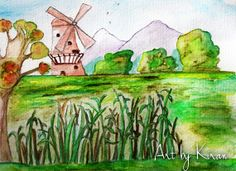 Beautiful Watercolor Landscape Painting Lost in by fairydustandall, £10.00