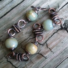 Beautiful wire wrapped bracelet, love the bead colors Wire Wrapped Bracelet, Copper Bracelet, Gemstone Bracelets, Copper Jewelry, Wire Jewelry, Beaded Jewelry, Jewelery, Jewelry Bracelets, Copper Wire