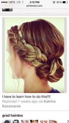 Braid into bun with sparkle headband