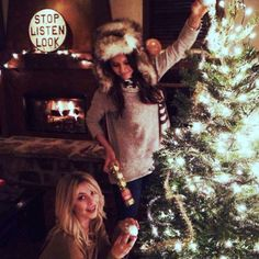 Nina Dobrev & Julianne Hough from Holiday Decorating With the Stars  The celeb besties get into the holiday spirit.