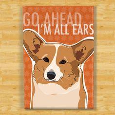 Corgi Magnet - Mach schon, ich bin ganz Ohr - rot Pembroke Welsh Corgi Geschenke Hund Kühlschrank-Kühlschrank-Magnete von PopDoggie auf Etsy https://www.etsy.com/de/listing/83719952/corgi-magnet-mach-schon-ich-bin-ganz-ohr