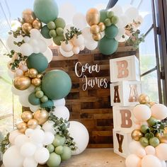 "@postworthyevents on Instagram: ""GIVING YOU ALL THE PRETTIES 🍃 Theres nothing better than walking away from setting up an event just knowing you gave them the best! . . .…"" Quince Decorations, Safari Decorations, Balloon Decorations, Boy Baby Shower Themes, Baby Shower Gender Reveal, Baby Boy Shower, Baby Showers, Slumber Party Birthday, Slumber Parties"