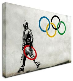 Sign Of The Times Olympics 2012 by Bristol Artist Banksy, Canvas Art Cheap Prints by http://www.canvastown.co.uk