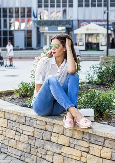 #ootd #outfit #slovakblogger #dnesnosim #macaroonsblouse #look #jeans #whiteblouse #fashionblogger