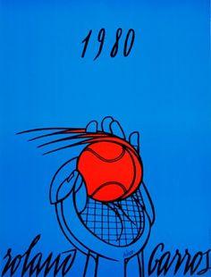 Roland Garros 1980 - Adami - Postergroup Original Vintage Posters #Vintage #Poster #VintagePoster #Sports #RolandGarros