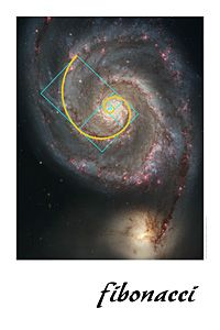 Math AND science: Christian is into galaxies and black holes, so I thought I would try to find something about astronomy that could connect back to our Fibonacci/golden ratio (phi = 1.61803399) math.