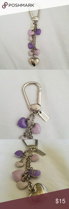 Coach Key chain Purple and silver Key chain. Coach Other