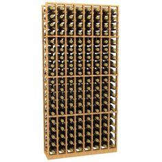 """Allavino CKC-308 8 Column 152 Individual Bottle Pine Wood Wine Rack Unfinished by Allavino. $306.00. Beautifully crafted Pine Wood is a great material for wine racks due to its long-lasting durability. Larger cubicles will fit most, if not all 750's and some Champagne bottles. Our bottle holders are the thickest and longest in the industry. Allavino features the largest cube size of any kit on the market. Dimensions: 74 1/8"""" H x 36 3/16"""" W x 12 1/4"""" D. The Allavino CKC-308 ..."""