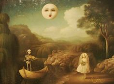 Mysterious Maidens and Menacing Idylls: The Paintings of Stephen Mackey Stephen Mackey, Illustrations, Illustration Art, Arte Lowbrow, Arte Horror, Pop Surrealism, Surreal Art, Macabre, Dark Art