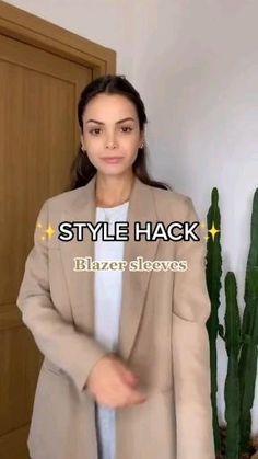 Diy Clothes Life Hacks, Clothing Hacks, Mode Outfits, Casual Outfits, Fashion Outfits, Diy Fashion Hacks, Fashion Tips, Fashion Videos, Work Fashion