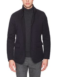 Allegri Black Quilted Reversible Jacket. Men's Fall Winter Fashion.
