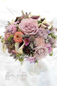 Bridal bouquet by Ingela Waismaa @Flora varia