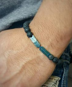 This essential oil diffuser bracelet for men is not only stylish but practical! A hip amd trendy way Mens Bracelet Fashion, Fashion Jewelry, Bracelet Men, Stone Bracelet, Braided Bracelets, Bracelets For Men, Gold Bracelets, Leather Bracelets, Diamond Earrings