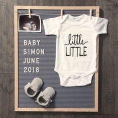Pregnancy announcement, pregnancy reveal, announcement for pregnancy, letter board announcement // #littlefacesapparel #Announcement