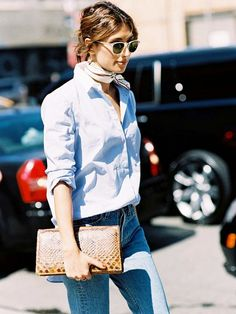 The Denim Shades That Are in Style Right Now. #denim #jeans #fashion