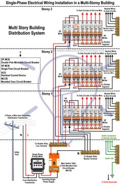 Building Electrical Installation Wiring Diagram Daihatsu Terios 630 Best Images Single Phase In A Multi Story