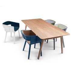 Benjamin Hubert's version of the Maritime chair and Casamania's Pontoon dining table.