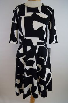 Donna Morgan Black & White Dress