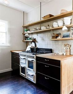Scandinavian design is all about clean lines, touches of timber and a neutral colour palette - the perfect recipe for a modern minimal kitchen. Here are 11 modern Scandinavian kitchens that nail Nordic design. Timber Kitchen, Industrial Style Kitchen, Plywood Kitchen, Beach Kitchens, Home Kitchens, Modern Kitchens, Country Kitchens, Farmhouse Kitchens, Dream Kitchens