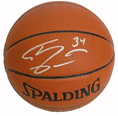 Shaquille O'Neal signed Spalding NBA Indoor/Outdoor basketball. Item comes with a Schwartz Sports Memorabilia tamper-proof numbered hologram and Certificate of Authenticity which can be verified onlin