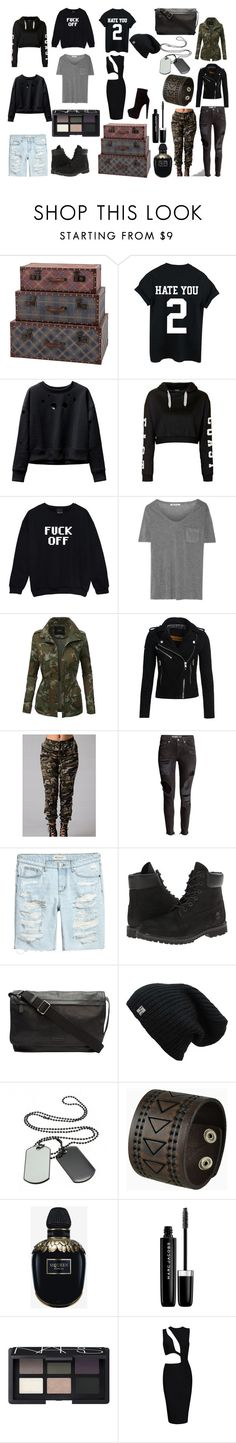 """""""taylor rutter school trunks"""" by tomboyllama995 on Polyvore featuring Dot & Bo, Topshop, French Connection, T By Alexander Wang, LE3NO, Superdry, H&M, Timberland, Frye and Nemesis"""