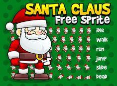 santa claus christmas winter free sprites