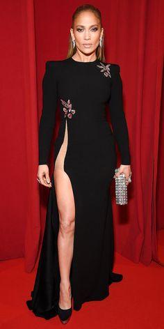 #JenniferLopez in an Alex Perry long-sleeve dress. #redcarpet #JLo