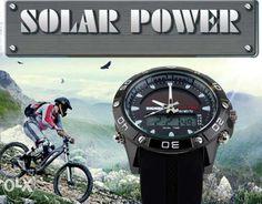 Тактические часы на солнечной батарее с Компасом. Функция Dual-LED Киев - изображение 1