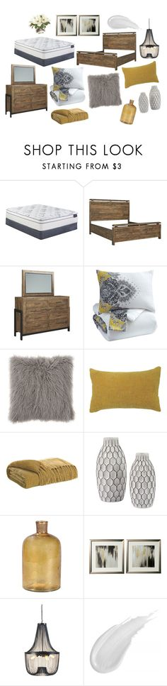"""""""Sommerford Master Bedroom"""" by ashleyhomestore on Polyvore featuring interior, interiors, interior design, home, home decor, interior decorating, Serta and bedroom"""
