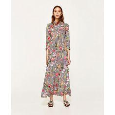 Zara Woman Premium Denim Collection Plaid Shirt Dress size S. Moda Floral, Floral Stripe, Moda Zara, Floral Fashion, Modest Fashion, Types Of Dresses, Dresses For Work, Zara Mode, Mode Simple