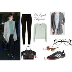 Dakota Johnson on Polyvore featuring moda, Dorothy Perkins, Free People, Alexander McQueen, Thierry Lasry and adidas Originals