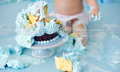 baby first birthday cake smash portrait photographer