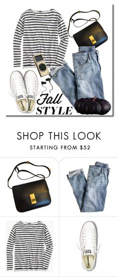 """Fall-ish"" by adduncan on Polyvore featuring J.Crew, Converse, Monster and Swarovski"