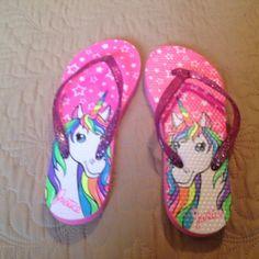 e572aeeb9 Flip flops1 Justice unicorn flip flops Justice Shoes Slippers Justice  Shoes