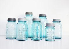 Aqua Mason Jar Collection.