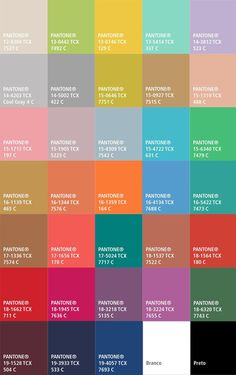 ~ ♥Fall 2015 Pantone Fashion Color forecast report from Pantone Color. New York Fashion Week Designers and fashion industry color trends. Colour Schemes, Color Combos, Color Patterns, Pantone 2015, Pantone Color, Web Design, Design Trends, Decoration Palette, 2015 Color Trends